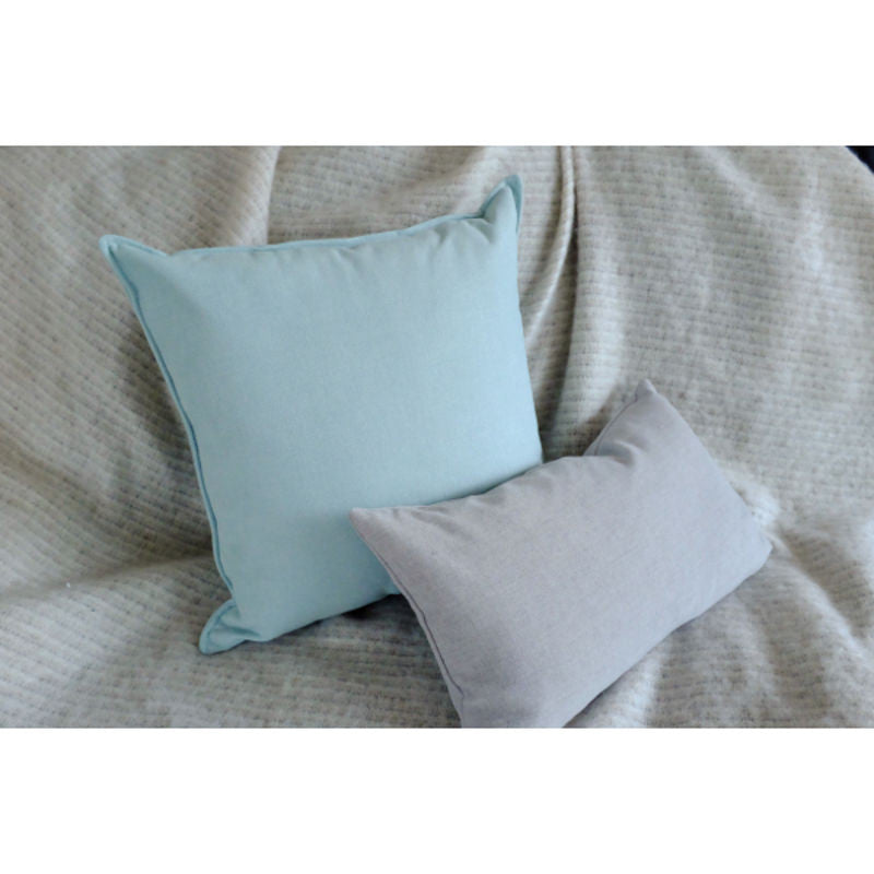 3Square pastel mint cushion | Shop now at Simple Palette