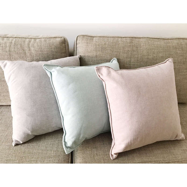 3Square Cashmere Silverdust Feather Cushion