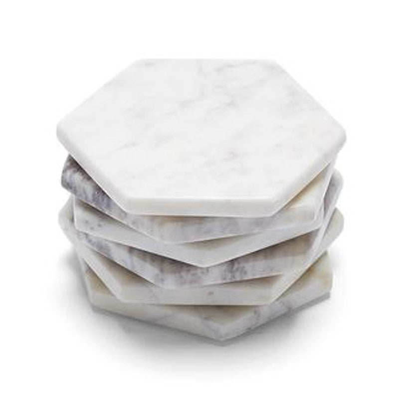 Marble Basics - Marble hexagonal coaster | Shop it at Simple Palette