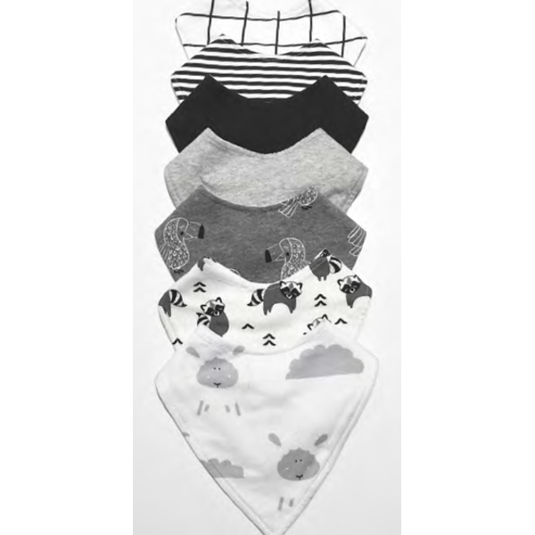 Mister Fly - Dribble Bib Grey | Simple Palette