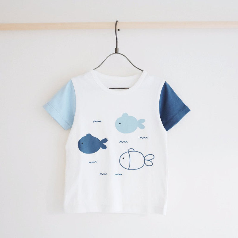 Tiny Rain Fish Tee - Simple Palette