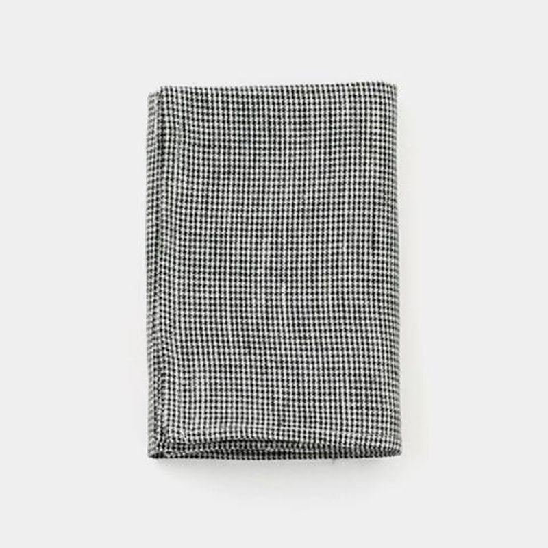 Fog Linen Kitchen Cloth - Black Houndstooth | Simple Palette