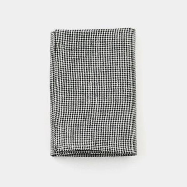 Fog Linen Kitchen Cloth - Black Houndstooth