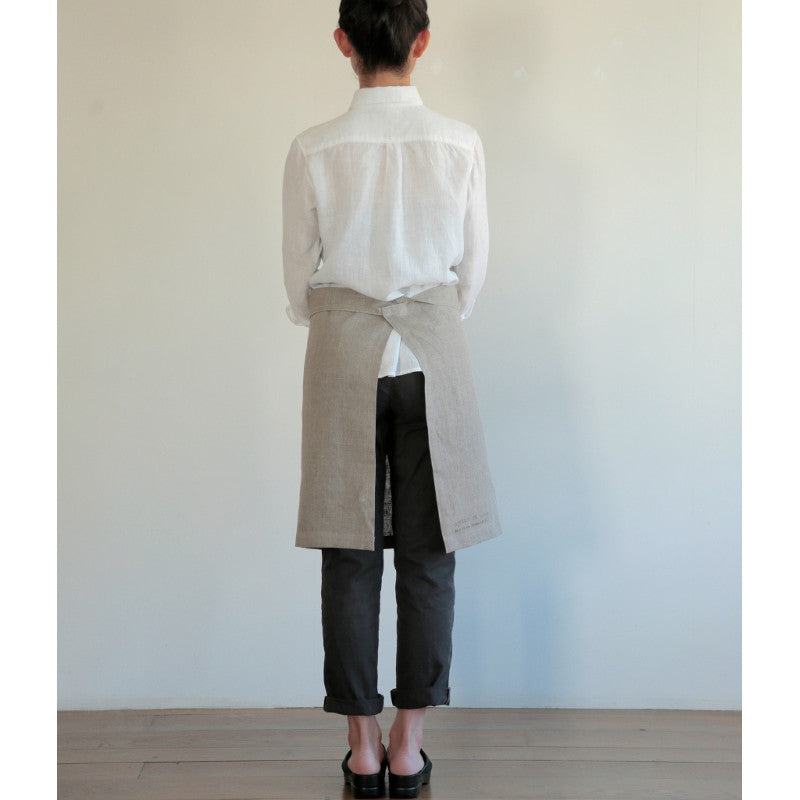 Fog Linen Midi Apron Back | Simple Palette