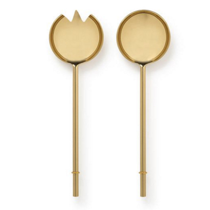 Marble Basics - Brass salad servers | At Simple Palette