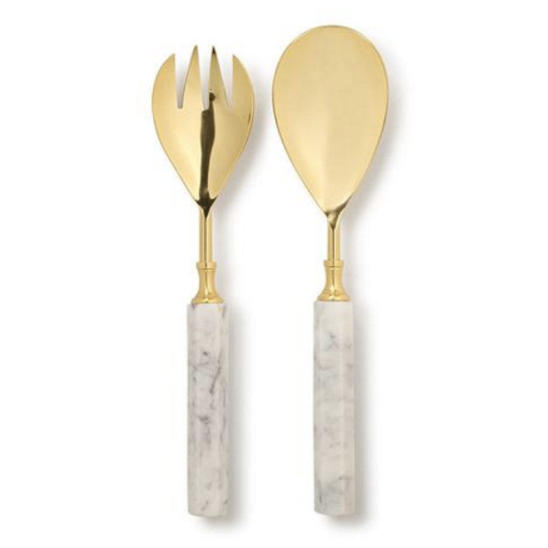 Marble Basics - Essential Salad Servers Marble | Simple Palette