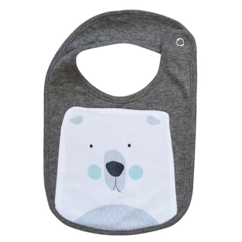 Mister Fly - Polar Bear Face Bib | Simple Palette