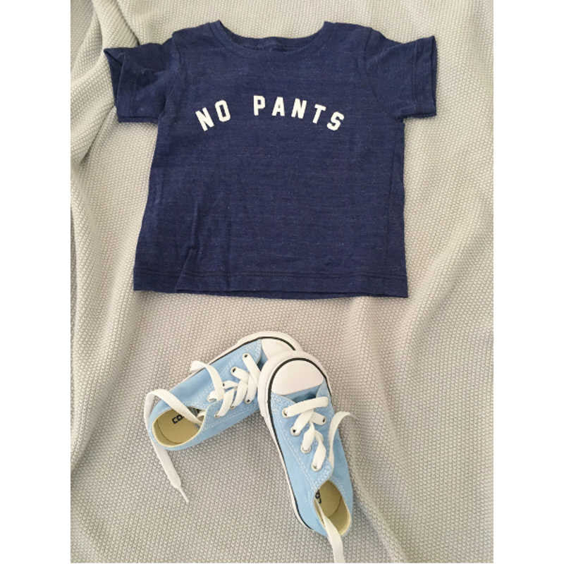 Cheerily - No pants navy baby cotton tee | Simple Palette