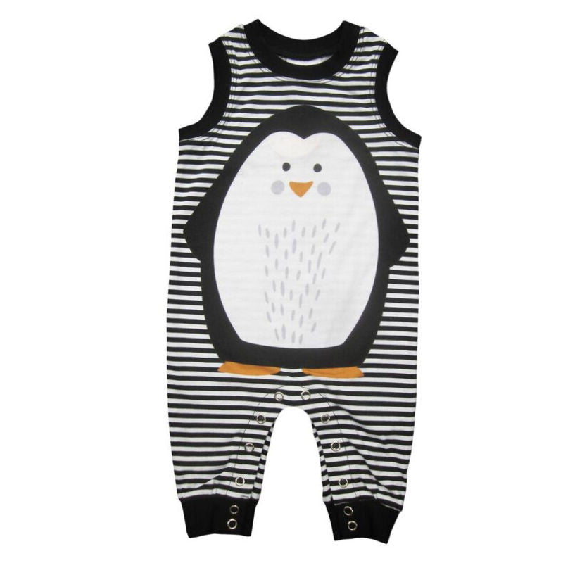 Mister Fly - Penguin Romper | Simple Palette