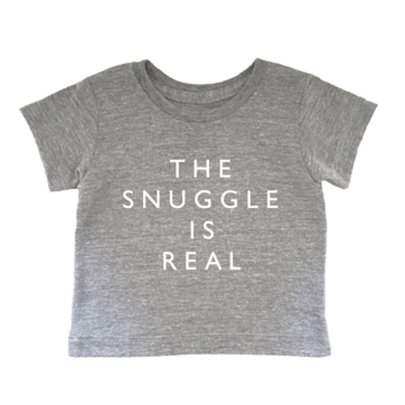 Cheerily - The snuggle is real baby cotton tee | Simple Palette
