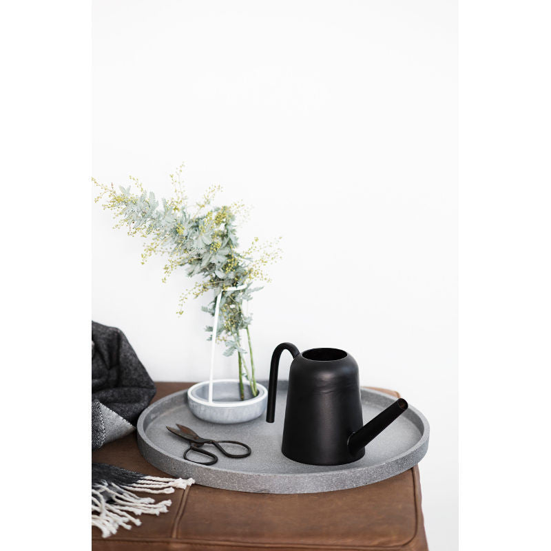 Zakkia - Concrete round tray in natural | Shop it at Simple Palette