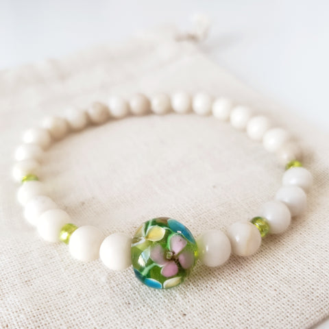 Limited Edition - Lampwork Flower Green