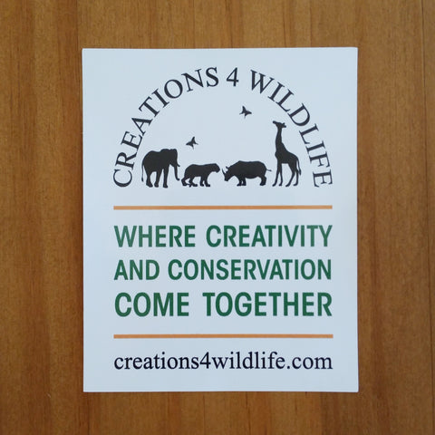 VINYL STICKER - CREATIONS 4 WILDLIFE