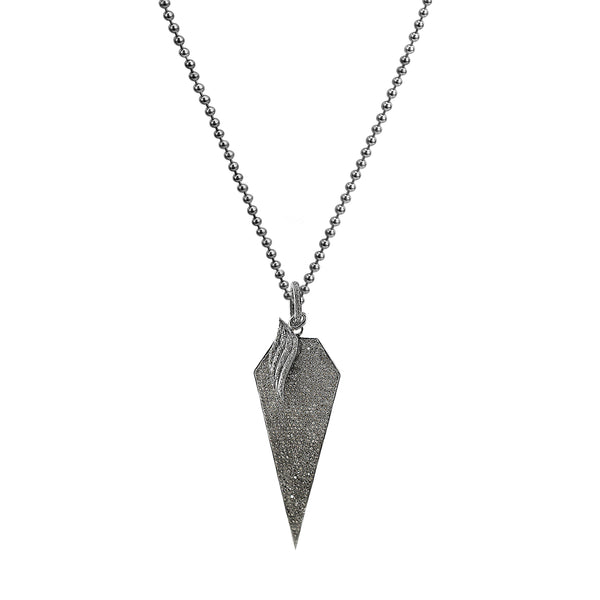 3.99ct Champagne Diamond in 925 Sterling Silver Dagger Necklace