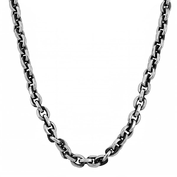 925 Sterling Silver Heavy Cable Biker Chain 20""
