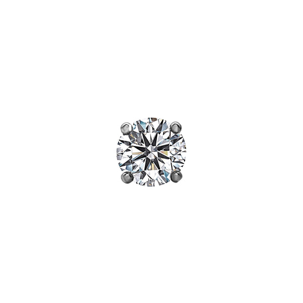 1.00tcw Round Diamonds in 14K White Gold Solitaire Stud Earrings