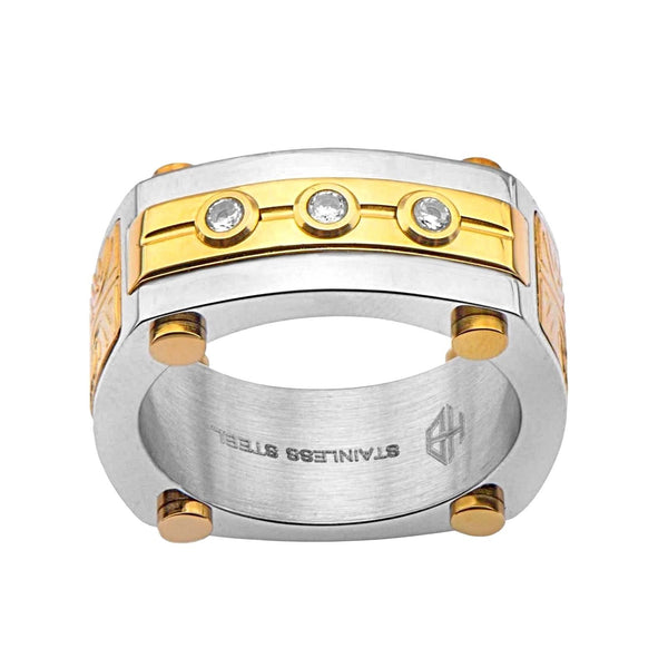 0.045ct Diamonds 316L Stainless Steel Aurem Men's Ring