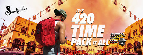 Smell proof back pack Smokeyz 420 apparel weed accessories