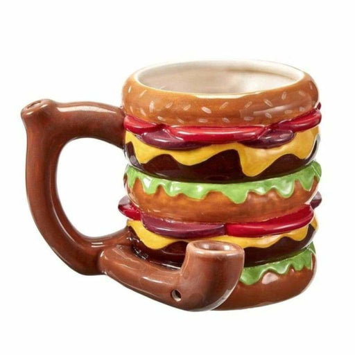 Double Cheeseburger Ceramic Pipe Mug On sale