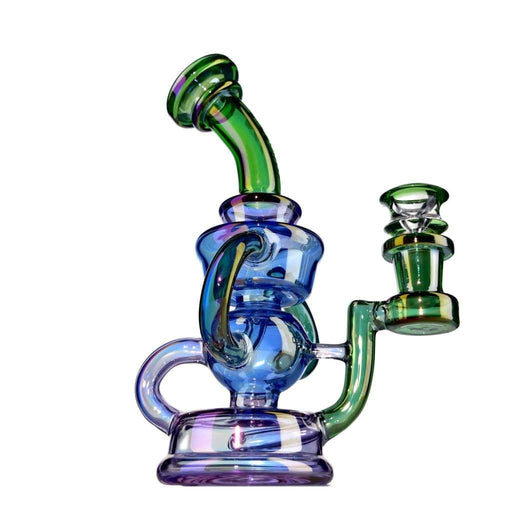 Electroplated Blue-green Recycler Rig 7 On sale
