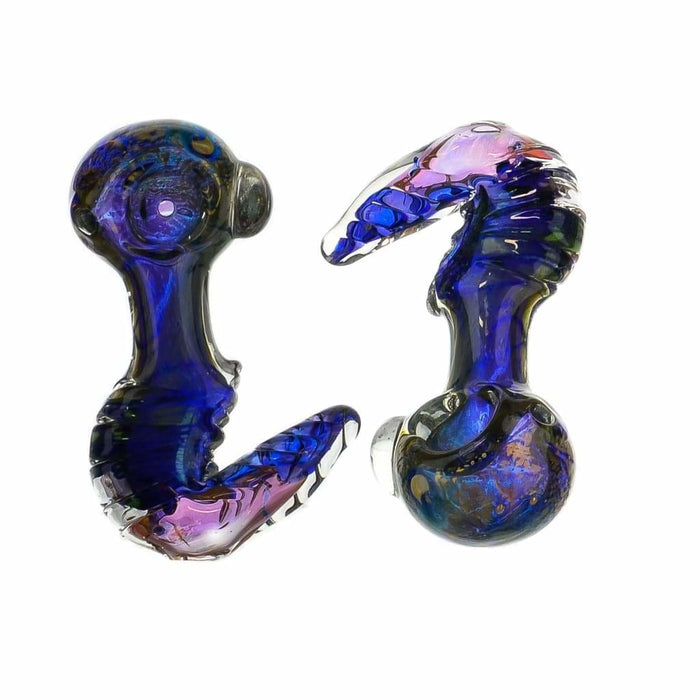 Fumed Blue Squid Pipe