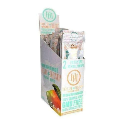 High Hemp Wraps 25 Count Box 1 (25 Pouches) / Maui Mango