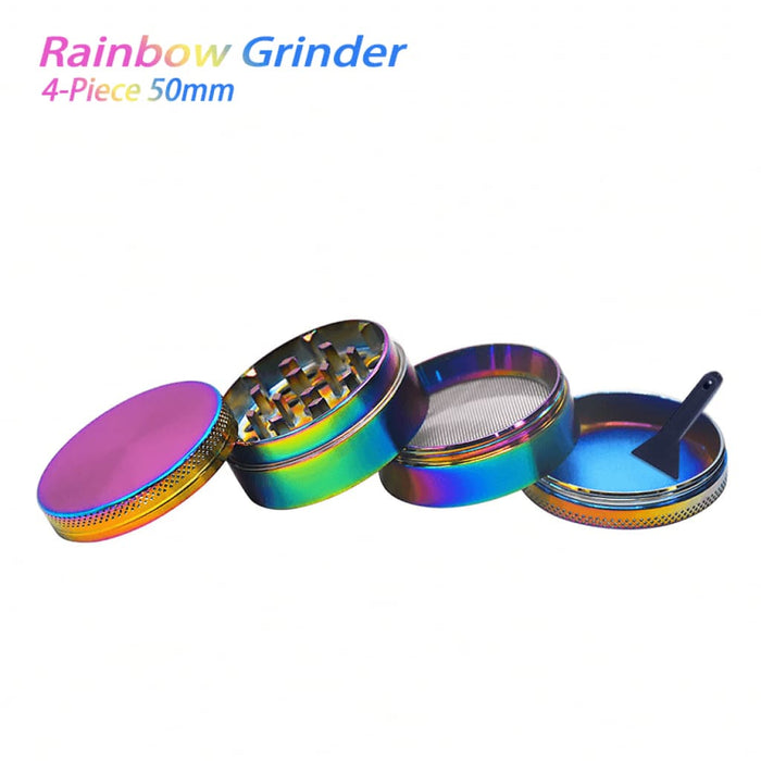 Rainbow Dry Herb Grinder 50mm On sale