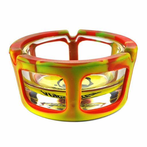 Silicone & Glass Ashtray On sale