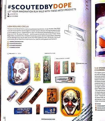 Lion Rolling Circus Products in DOPE Magazine