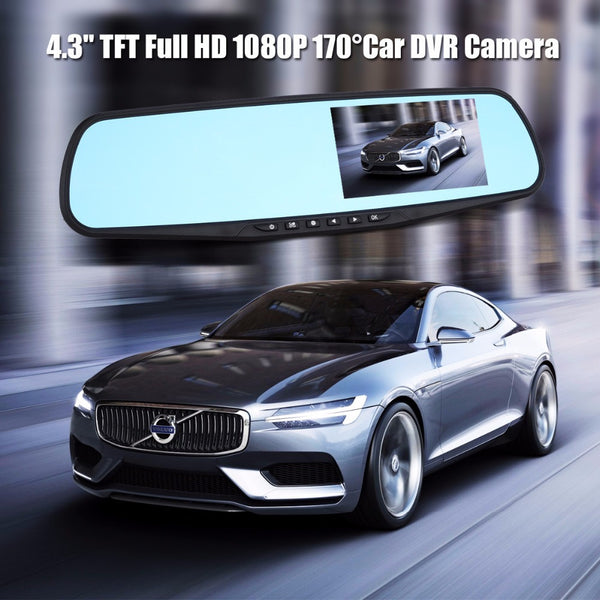 "Full HD 1080P 4.3"" TFT LCD 170 Degrees Video Recorder Dash Cam Rearview Mirror Car DVR Camera Digital Video Recorder"