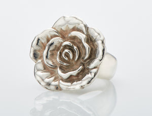 Rose Ring - Sterling Silver Ring