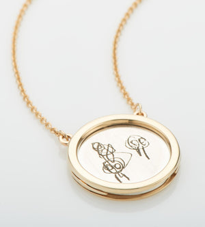 THE ELDEST - Large - Personalised Frame Pendant