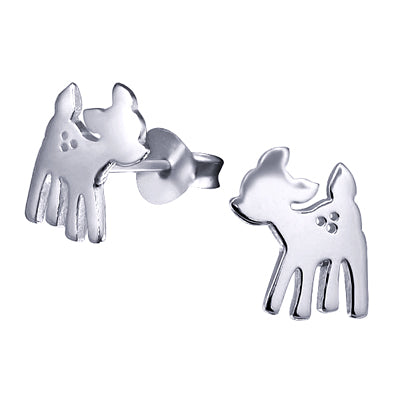 Sterling Silver Earrings - Baby Deer Studs