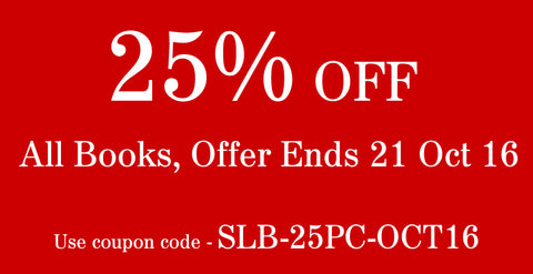 Book Sales - 25% off all books. Offer ends 21/10/16