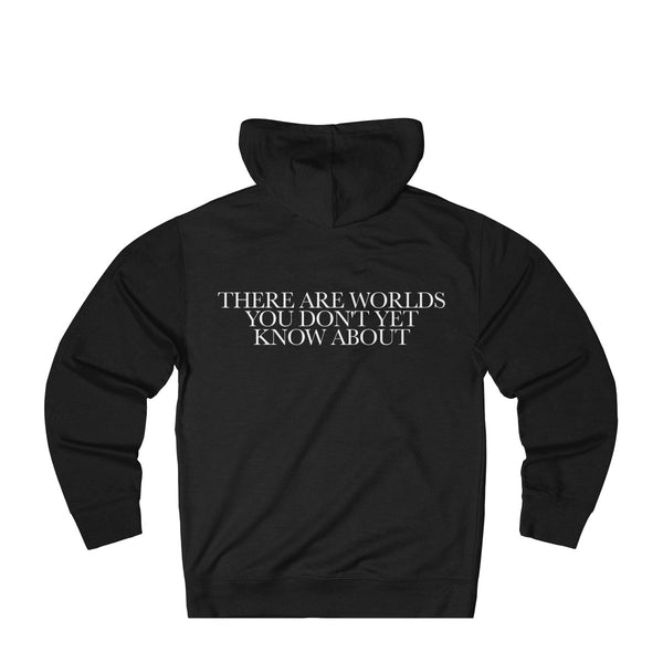 There Are Worlds You Don't Yet Know About - Hoodie (Black/Red)