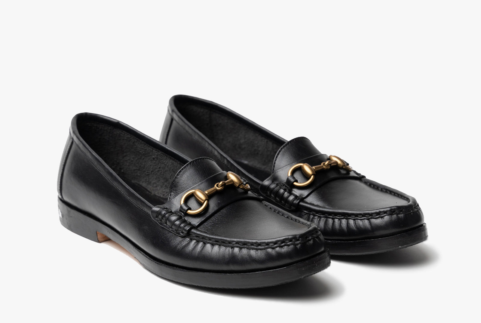 The Bonnie Horsebit Loafers - Black Noir - Marquina Shoemaker