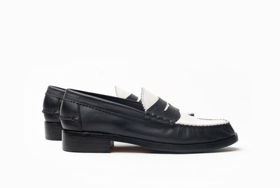 The Grand Spectator Loafers - Black & White - Marquina Shoemaker