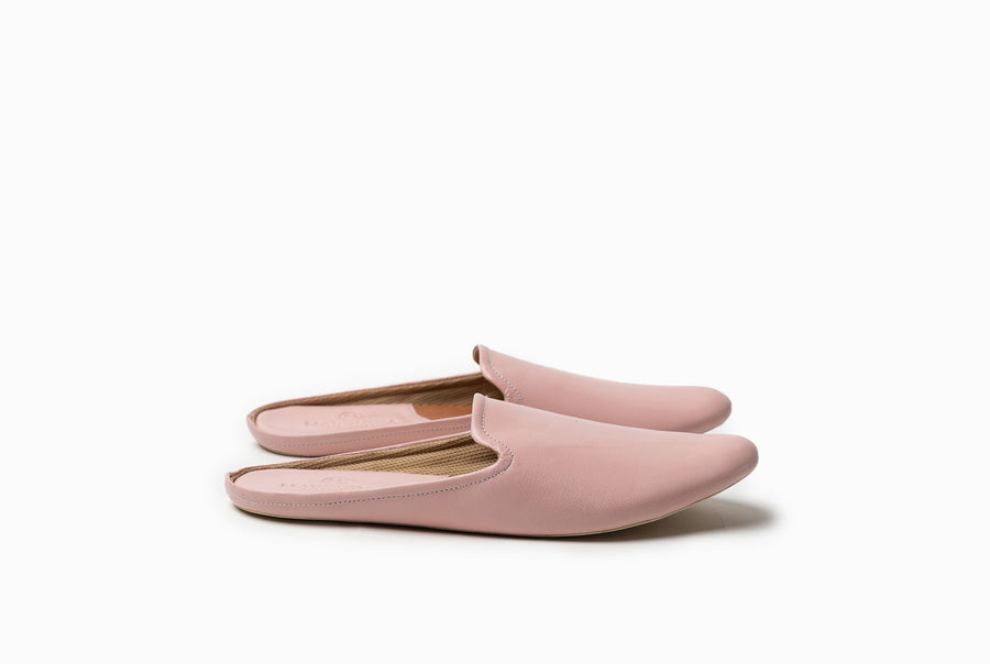 Bonnie Lounge Flat - Blush Pink - Marquina Shoemaker
