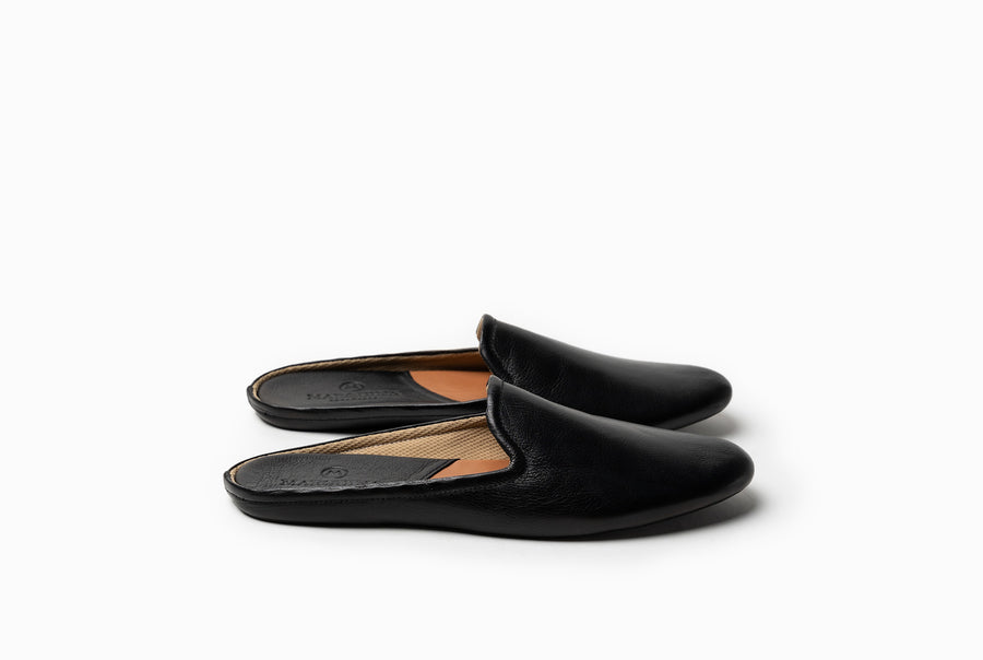 Bonnie Lounge Flat - Black Noir - Marquina Shoemaker