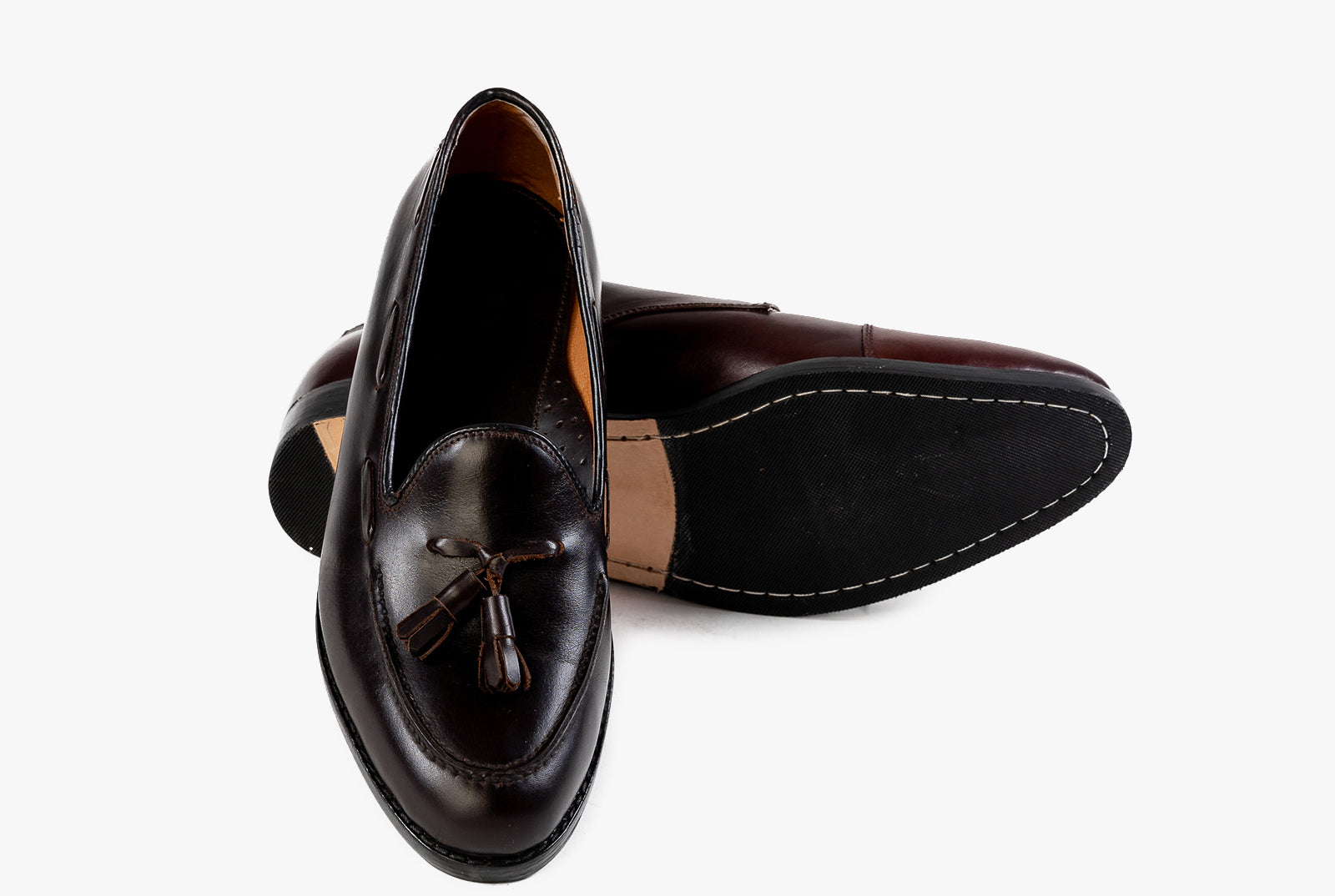 The Grand Tassel Loafer - Mahogany Brown - Marquina Shoemaker