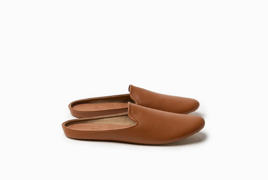 Bonnie Lounge Flat - Cognac Tan - Marquina Shoemaker