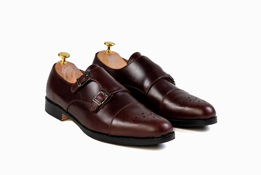 Grand Double Monkstraps - Oxblood Burgundy - Marquina Shoemaker