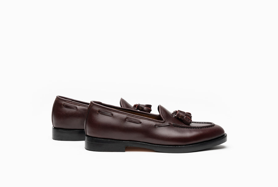 The Bonnie Tassel Loafers - Oxblood Burgundy - Marquina Shoemaker