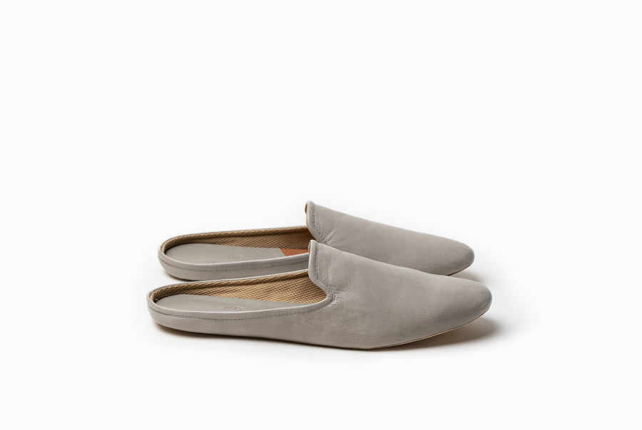 Bonnie Lounge Flat - Taupe Gray - Marquina Shoemaker