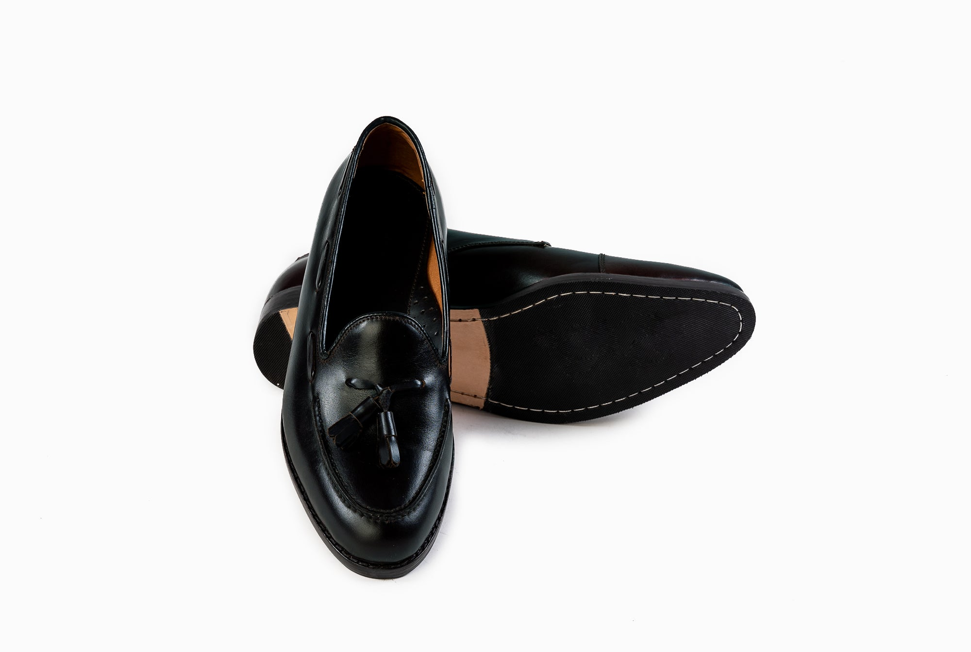 The Grand Tassel Loafer - Black Noir - Marquina Shoemaker