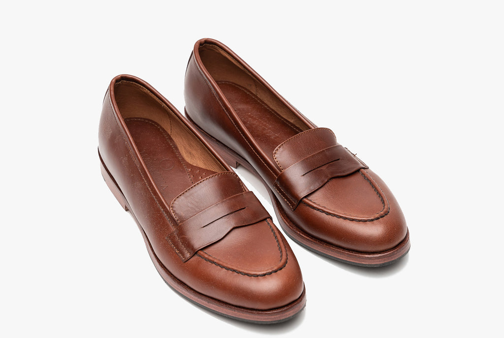 The Bonnie Penny Loafers - Chestnut Brown - Marquina Shoemaker
