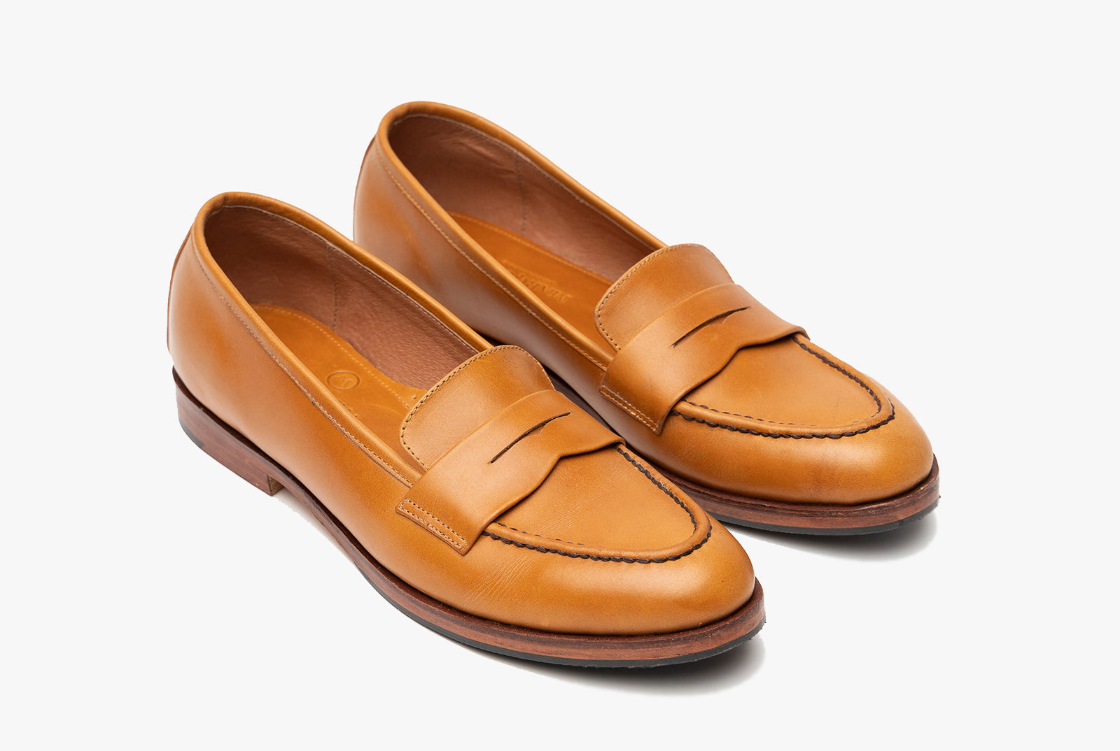 The Bonnie Penny Loafers - Cognac Tan - Marquina Shoemaker