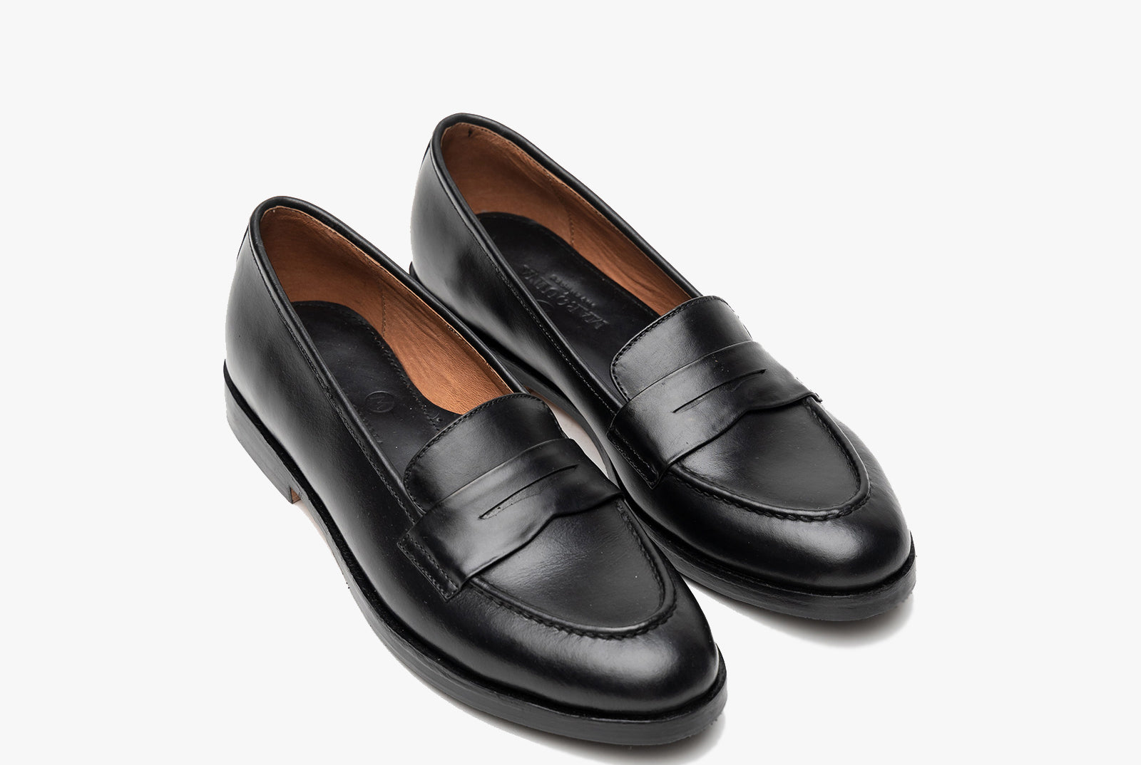 The Bonnie Penny Loafers - Black Noir - Marquina Shoemaker