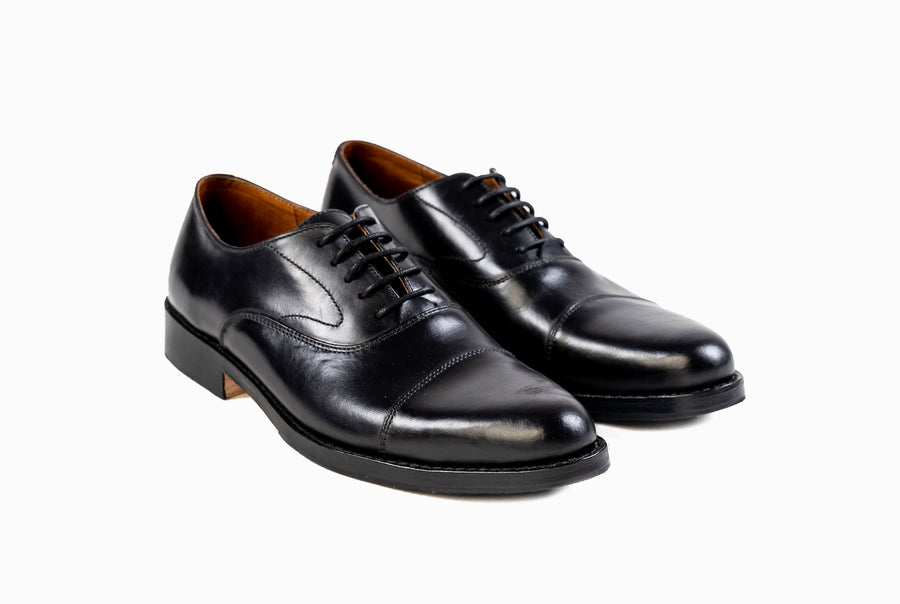 Grand Captoe Oxford - Black Noir - Marquina Shoemaker