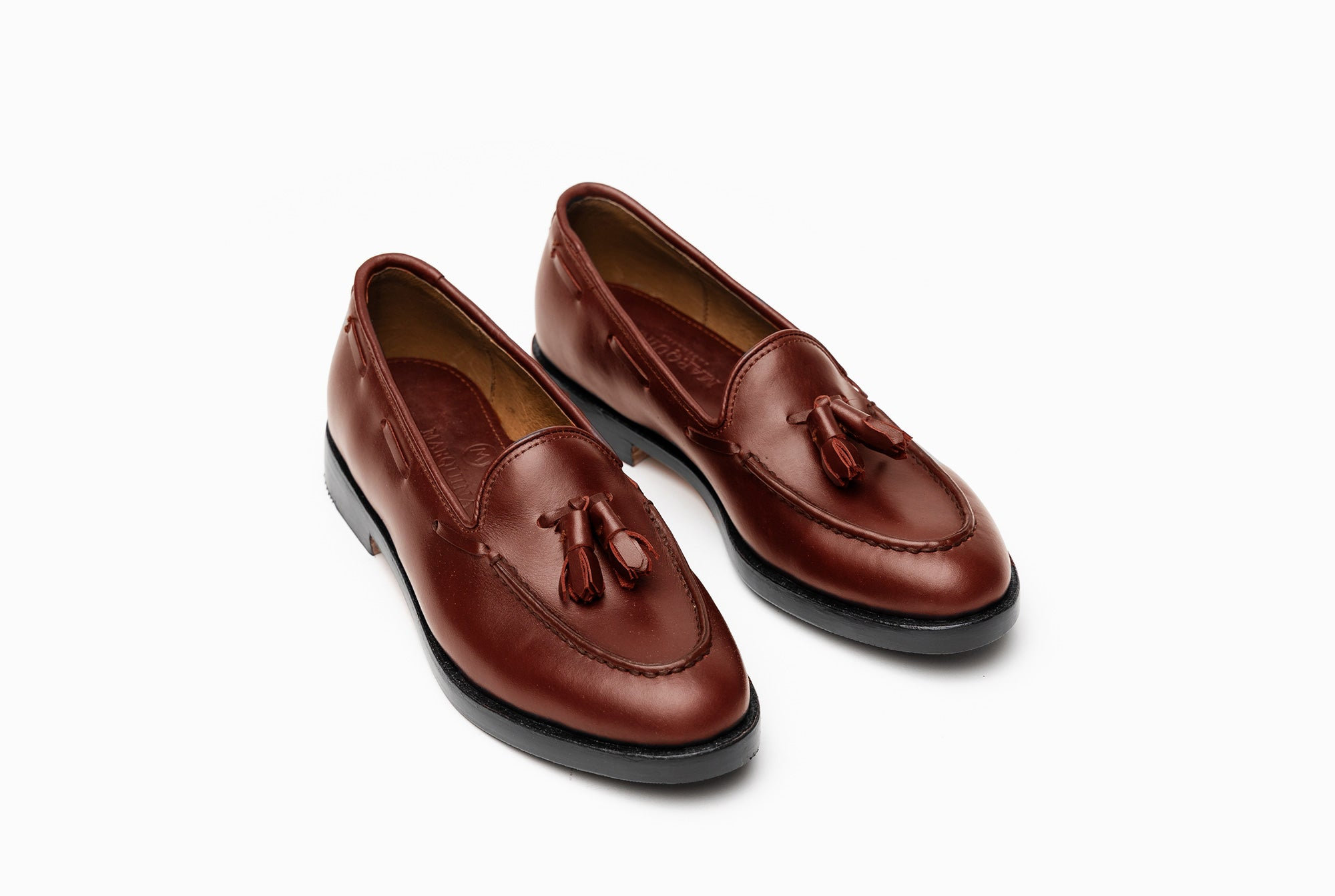 The Bonnie Tassel Loafers - Chestnut Brown - Marquina Shoemaker